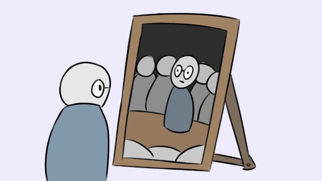 Redeangst überwinden Spiegelübung