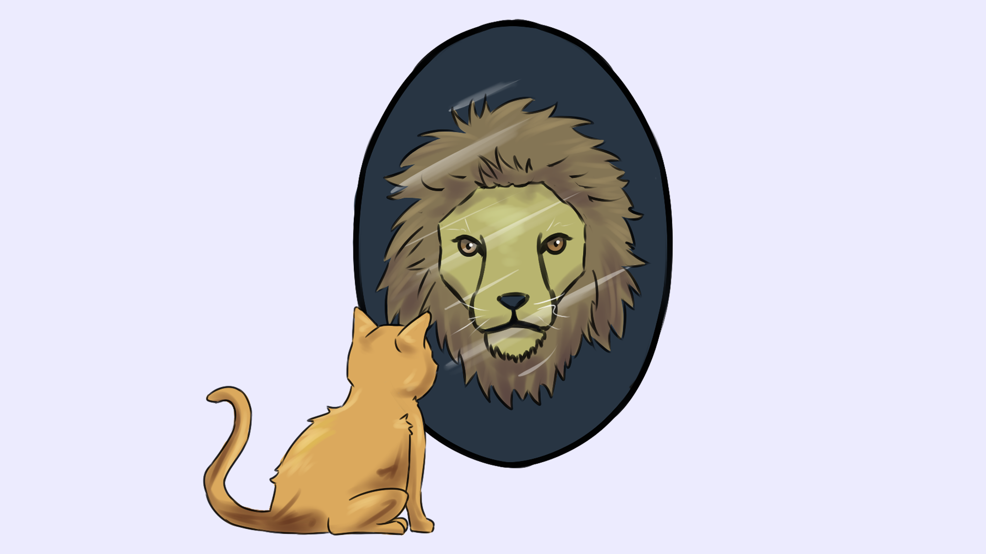 Selbstbewusstes Auftreten: Löwe Titelbild