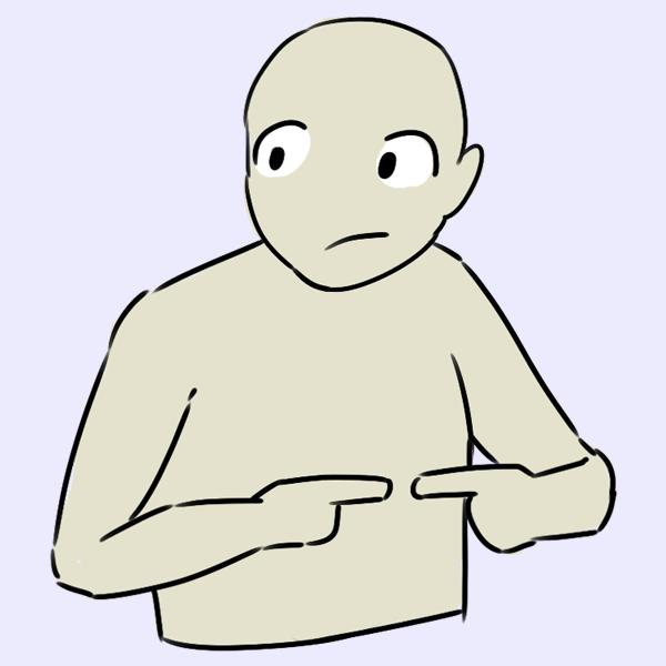 Mit Händen rumspielen - Selbstbewusstes Auftreten