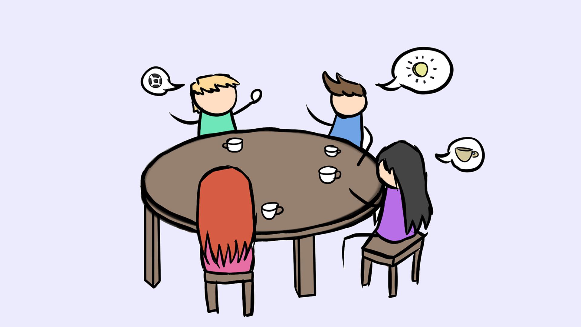 Smalltalk lernen: Cafe-Klatsch