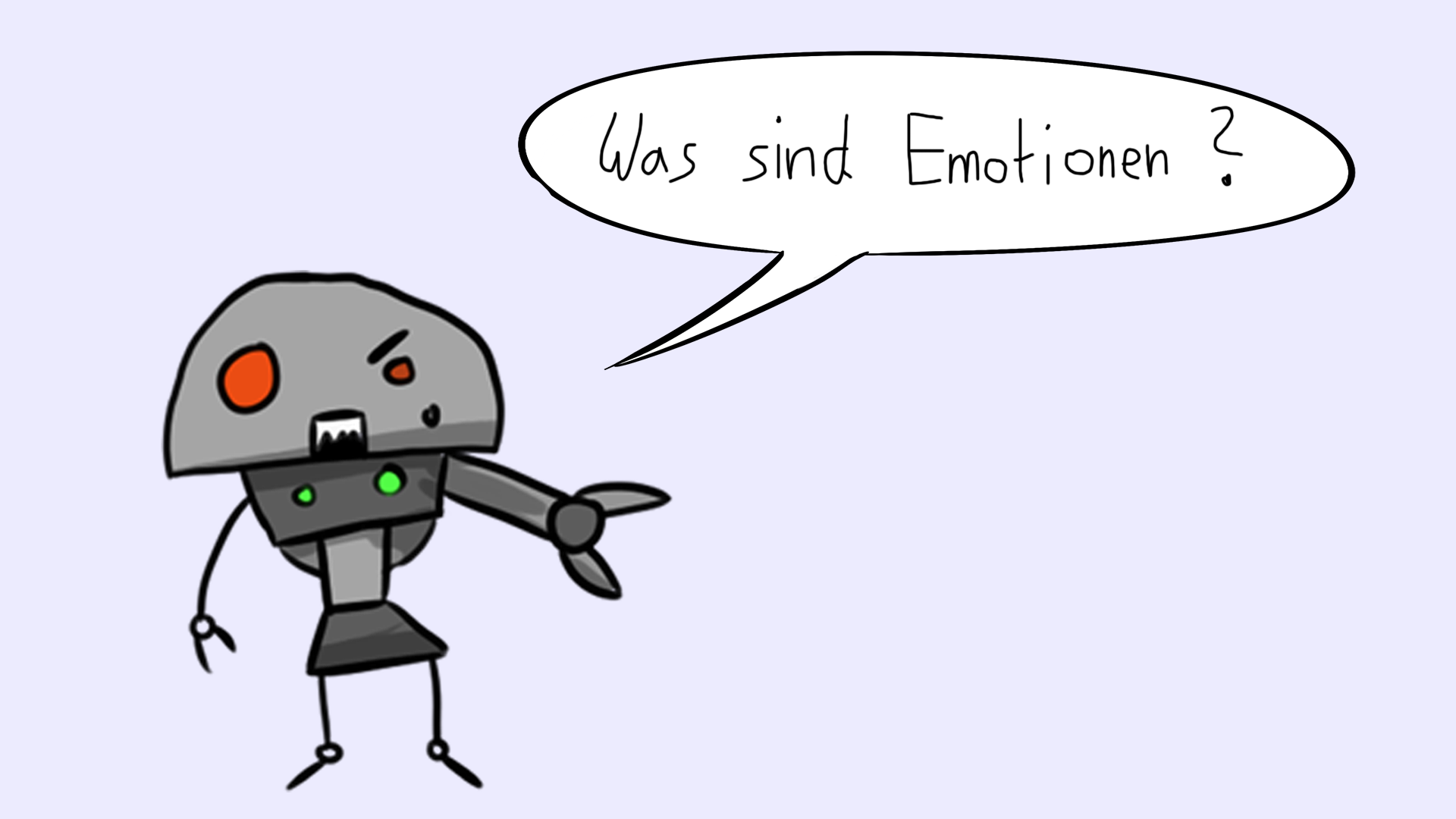 Smalltalk lernen: emotionsloser Roboter