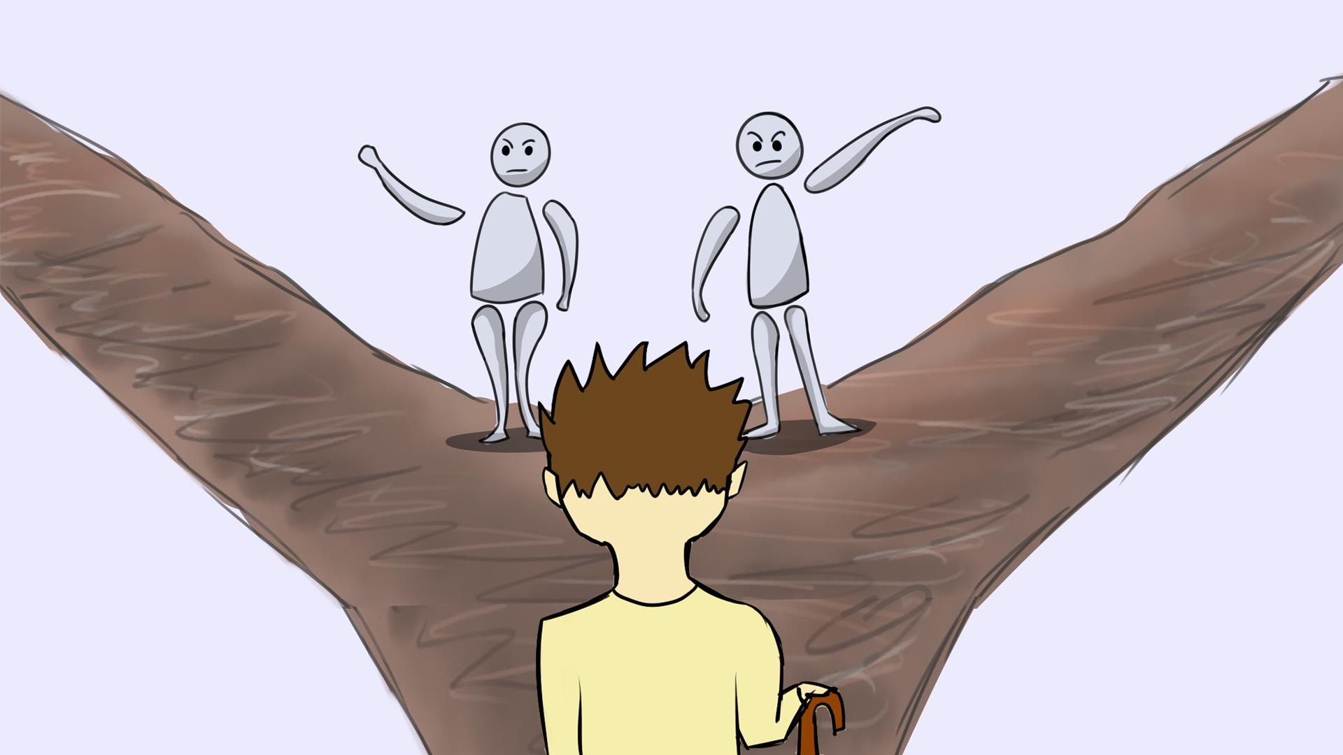Weggabelung: Scheissegal was andere denken